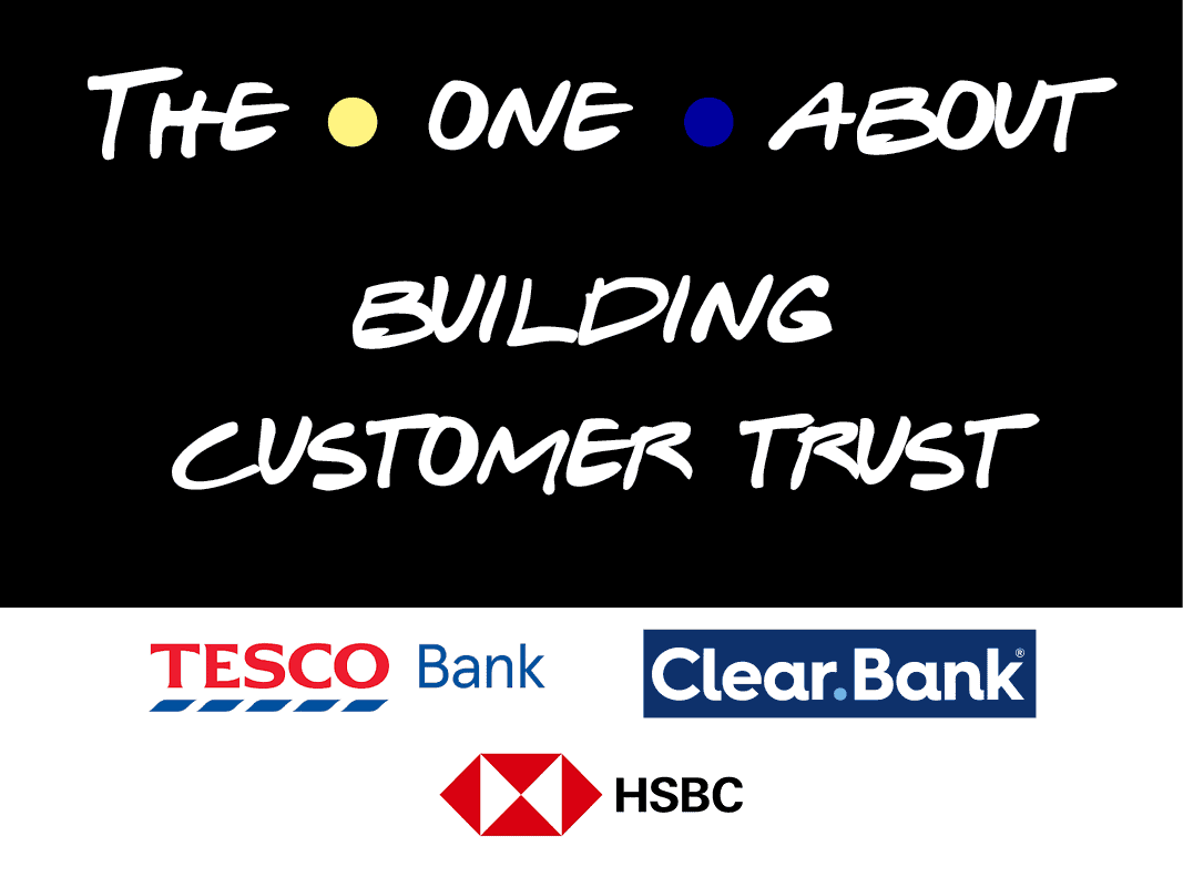 The One About building consumer trust