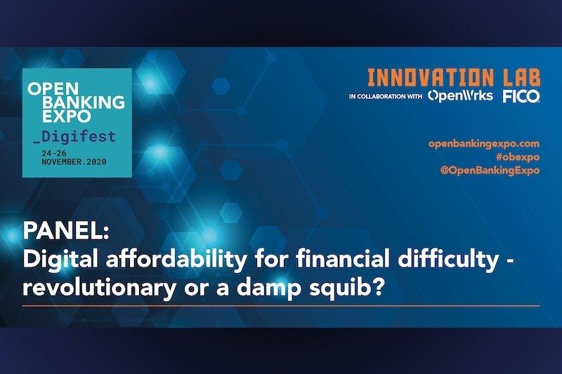 Poster - OBE Digifest 2020 - Digital affordability for financial difficulty- revolutionary or a damp squib_