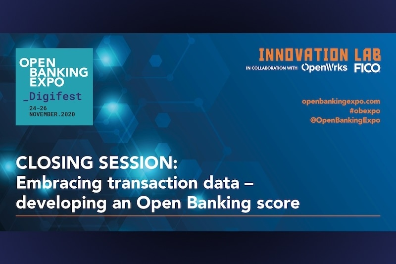 Poster - OBE Digifest 2020 - Embracing transaction data – developing an Open Banking score