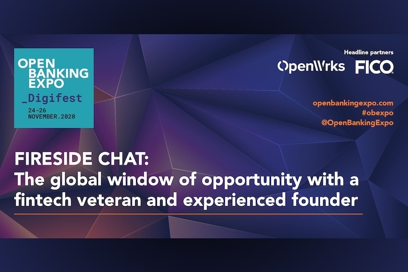 Poster - OBE Digifest 2020 - The global window of opportunity with a fintech veteran and experienced founder